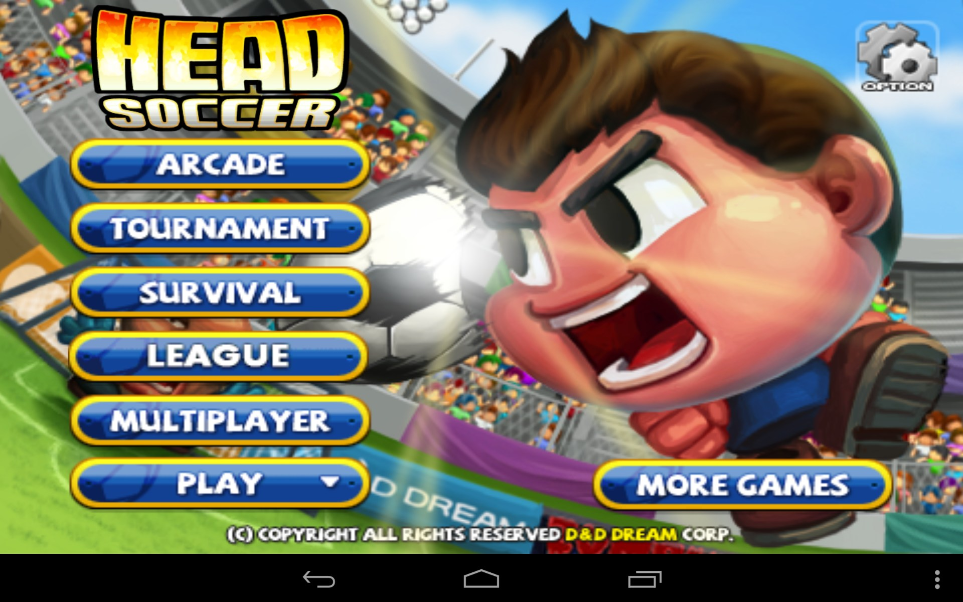 head soccer game